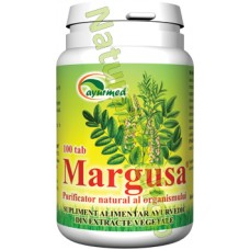 MARGUSA 100 tablete - Purificator natural al organismului